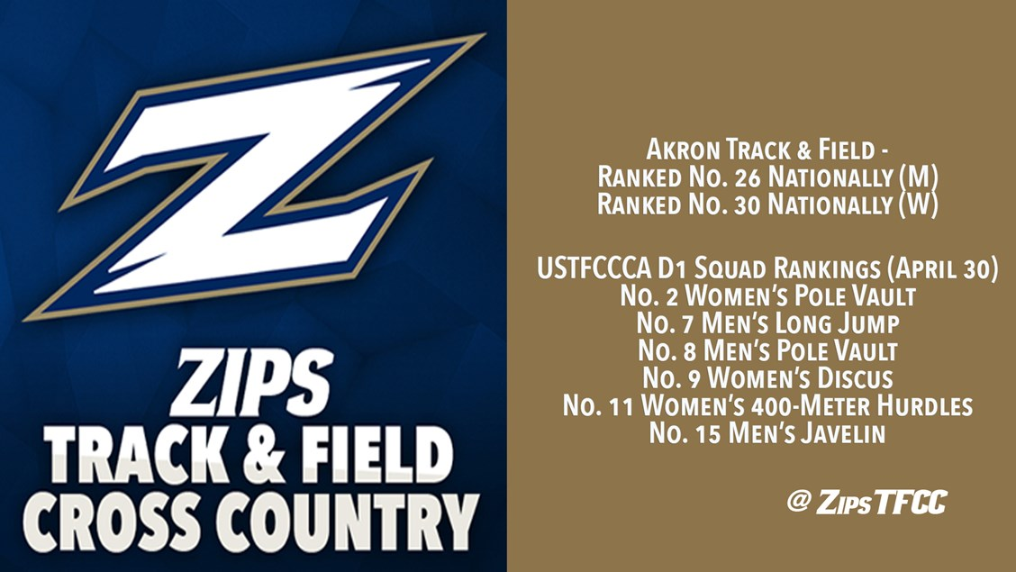 Akron Rated No 26 And No 30 In Latest Ustfccca Rankings Akron