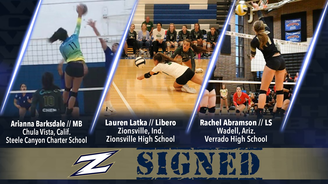 Akron Volleyball Adds Three Zips to 2019 Roster - University