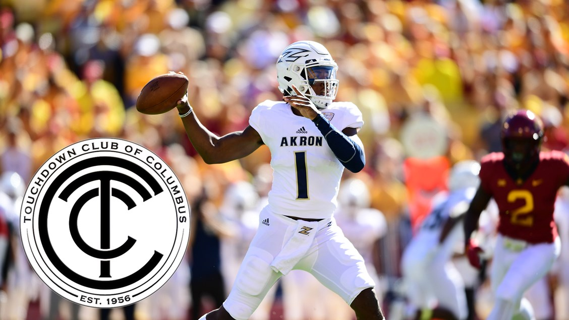 dbc489e31 Akron QB Kato Nelson Named 2019 Player to Watch by Touchdown Club of  Columbus