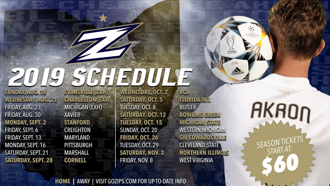 8a3f7ad99d8 Akron Men s Soccer Announces Schedule for 65th Anniversary Campaign ...