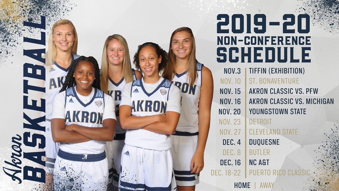 Akron Women S Basketball Announces 2019 20 Non Conference